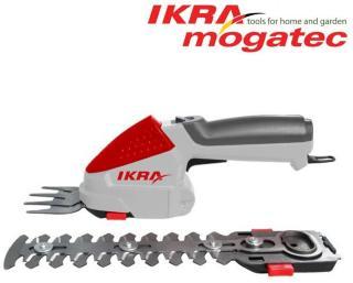 Hekk- og gressaks sett Ikra Mogatec IGBS 1054 LI 7,2 V 2,2 Ah batteridrevet 7,5/16 cm lengde
