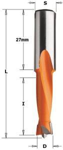 Bor for tre CMT S=10x27 mm D=16x27 mm