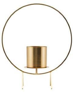 House Doctor Stearinlysholder Circle Brass 40 cm