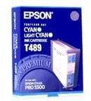 Epson T489 - cyan, lys cyan - original - blekkpatron C13T489011