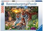 Hidden Tigers 3000 biter Puslespill Ravensburger Puzzle