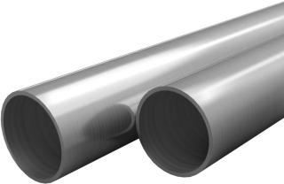 vidaXL Stålrør 2 stk rustfritt stål runde V2A 1m Ø38x1,9mm