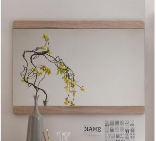 Ortega Speil 90 cm - Beige/Hvit