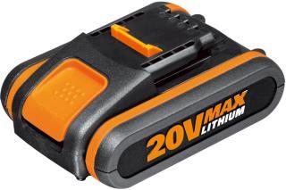 Worx WA3551 20V 2.0Ah batteri med indikator