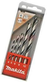 Borsett for tre Makita D-57211 4-10 mm 5 stk