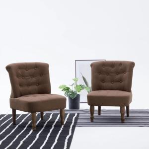 vidaXL Fransk stol brun stoff
