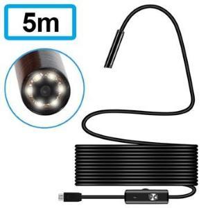 Vanntett 7mm MicroUSB Inspeksjonskamera - IP67 - 5m