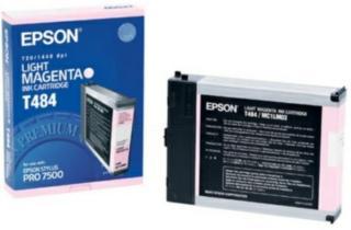 Epson T484 Blekkpatron lys magenta, 110 ml T484 Tilsvarer: N/A Epson