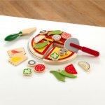 KidKraft Lekemat Pizza, tre/filt (101-63347)