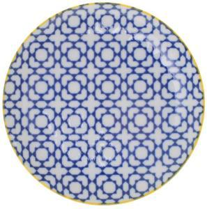 Asjett 16cm. Blå /hvit Tokyo porselen Geo