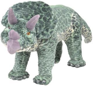 Stående lekedinosaur triceratops grønn XXL - grønn