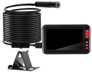 Vanntett HD Endoskop-kamera med LCD-skjerm & Holder - 10m