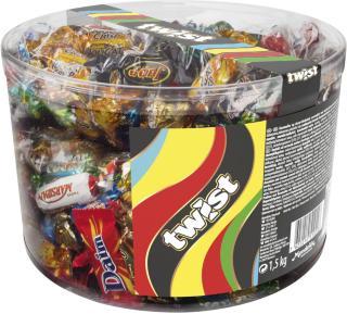 Twist Sjokolade sylinder 1,5kg 4021727