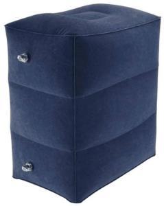 eStore Oppblåsbar Fotskammel PVC, Mørkeblå
