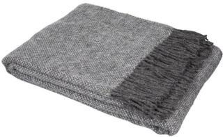 Mjuk Luster ullpledd 130x170 cm grå 130x170 cm MJUK
