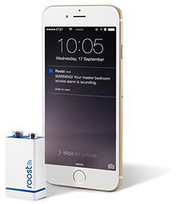 Roost Smart Wifi røykvarsler batteri