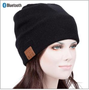 KNIT CAP BT HEADPHONES CLEAN BLACK