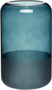 Hübsch Vase i frostet blågrønn 20 cm - Hübsch