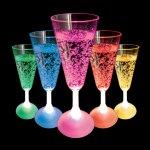 Flashing LED Champagne Glass