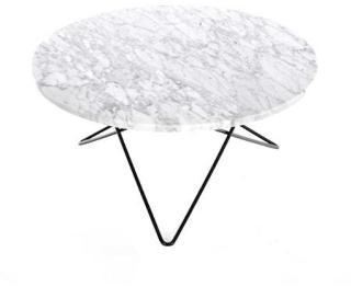 OX DENMARQ O Table Hvit Marmor med Svart Ramme Ø80