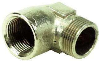 Ezze 3006093072 Vinkel metall, in- utv gjenge G15, messing