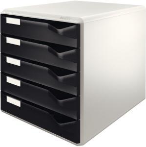 LEITZ Post-set 5 drawers A4 Black (5280-00-95)