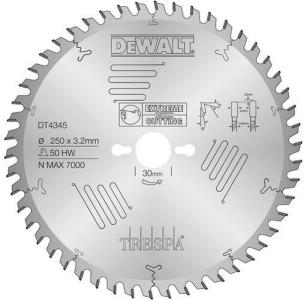 Sagblad for tre DeWalt DT4345 250x30 mm 50T