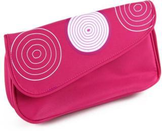 12 delers sett med Syntetiske koster i rosa veske.
