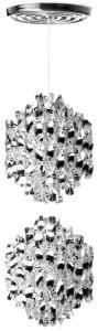 Verpan Taklampe Spiral SP2 Taklampe Sølv