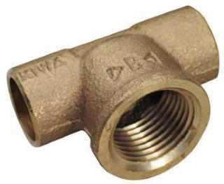 loddefittings T-rør 15-1/2-15mm