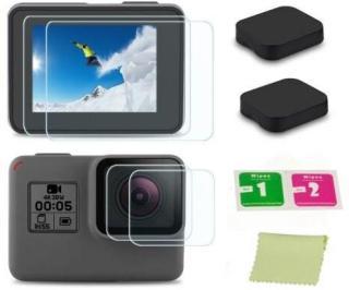 Linsedeksel og skjermbeskytter GoPro Hero5 Hero6 Hero7 Svart