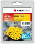 AGFAPHOTO 4-pack - svart, gul, cyan, magenta - blekkpatron (alternativ for: Epson T0615, Epson T0611, Epson T0612, Epson T0613, Epson T0614, Epson C13T06114010, Epson C13T06124010, Epson C13T0613401..