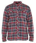 Flanellskjorte Blåkläder Marineblå/Rød XXXL