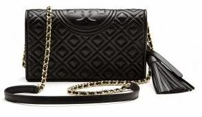 TORY BURCH Fleming Wallet Cross-Body Black One size