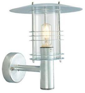 Norlys Stockholm Vegglampe Galvanisert, Klart glass