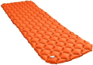 vidaXL Oppblåsbar luftmadrass 58x190 cm oransje
