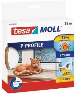 Tesa P-list 05391-00100-00 Tetningstape EPDM, 25 m, 9 mm x 5.5 mm Hvit