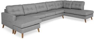 Andrarum Monroe U-sofa Large med Divan Venstre - Grå
