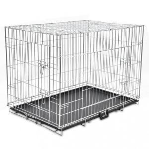 Sammenleggbart hundebur metall XL