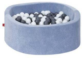 knorr® leker ballbad mykt - Mykblått inkludert 300 baller myk grå / krem