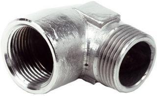 Ezze 3006093082 Vinkel metall, in- utv gjenge G15, forniklet