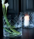 Magnor Skyline Lux XL vase/lykt klar håndslipt 250 mm