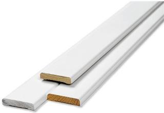 Dørlistsett hvit glatt 12 x 058