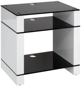 Blok Stax 600X Stereomøbel - White Gloss / Black Glass