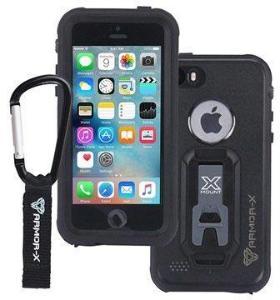 iPhone 5/5S/SE Armor-X Ultimate Vanntett Mobilpose - Svart