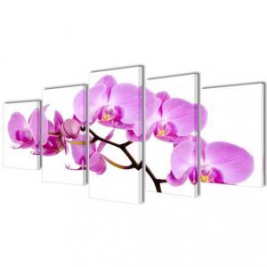 Kanvas Veggbilde Orkide' - 200 x 100 cm