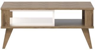 Hejde Sofabord 90 cm - Brun/Hvit