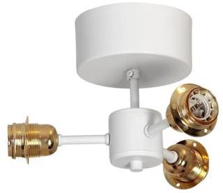 Zuma Trio Takplafond 230V 3xE27/3x40W Hvit/Messing Hallbergs Belysning