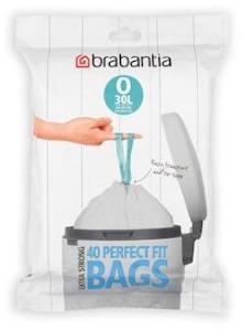 Brabantia Avfallsposer O Pack med 40 poser Hvit 30 L