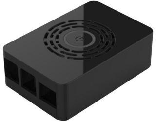 Raspberry Pi 4 case with power button - Black - Kabinett - Raspberry Pi - Svart ASM-1900143-21